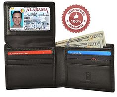 RFID Blocking Wallet for Men, Slim Bifold as Gift for Guys, Stylish Genuine Leather, Excellent ID Credit Card Protector, Against wireless theft by RFID Anti scan, 100% Money Back Guarantee (Black) - http://www.mansboss.com/rfid-blocking-wallet-for-men-slim-bifold-as-gift-for-guys-stylish-genuine-leather-excellent-id-credit-card-protector-against-wireless-theft-by-rfid-anti-scan-100-money-back-guarantee-black/?utm_source=PN&utm_medium=i+love+Cool+Gadgets&utm_campaign=SNAP%2Bfr