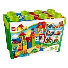 Give your child hours of entertainment with the LEGO DUPLO Deluxe Box of Fun. This set makes the perfect introduction to LEGO building fun, with a huge range of classic and special DUPLO bricks. From teaching counting with the decorated number blocks to inspiring role play with the DUPLO figures, this box will open up a world of learning and creativity for your young builder. It also includes a wagon base, window and door elements in bright, primary colors that toddlers will love to play…