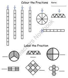 Fraction Printables product from Teaching The Smart Way on TeachersNotebook.com