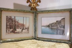 A pair of antique framed hand colored photosend by ChateauAntique, $450.00