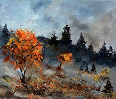 "Saatchi Art Artist Pol Ledent; Painting, ""Autumn 6751012"" #art"