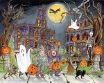 Vermont Christmas Company Little Goblins Halloween Jigsaw Puzzle 1000 Piece Jigsaw Halloween, Halloween Train, Halloween Puzzles, Halloween Haunted Houses, Halloween Party, Crafts From Recycled Materials, Halloween Countdown, Countdown Calendar, Goblin