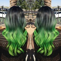 Black to green ombre hair … Read More