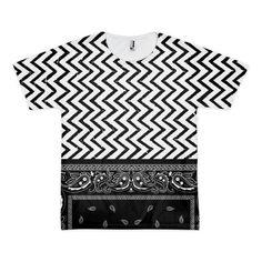 Stripes n bandanas t-shirt