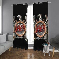 Slayer (Eagle Logo) Window Curtains – Rugsetsy