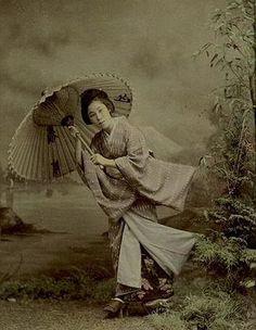 Baron Raimund von Stillfried Girl with Umbrella, Japan 1880 (ca)