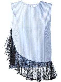 J.w.anderson Lace Hem Blouse - Dell'oglio - Farfetch.com - white fitted blouse, women's blouses and tops, ladies white shirts and blouses *sponsored https://www.pinterest.com/blouses_blouse/ https://www.pinterest.com/explore/blouse/ https://www.pinterest.com/blouses_blouse/womens-blouses/ https://www.elietahari.com/shop/clothing/blouses