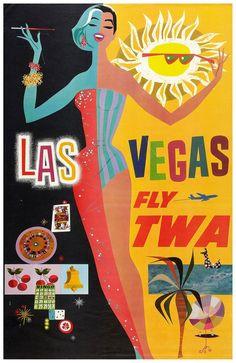 Las Vegas. Fly TWA.