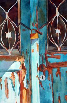 Anne Abgott watercolor turquoise