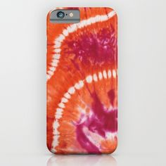 Mango Bean Trails iPhone & iPod Case by Vikki Salmela #new #retro #Bohemian #ethnic #Indonesian #mango #magenta #lime hand #tie #dyed #art on #fashion #accessory #tech #iPhone #iPod #phone #cases for #office #home #school #gift