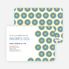 Modern Dol Flowers Invitations from Paper Culture