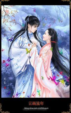 China Romeo Juliet / Romeo et Juliette chinois Fantasy Love, Anime Fantasy, Fantasy Art, Illustrations, Illustration Art, Romeo Y Julieta, Fantasy Couples, China Art, Couple Art