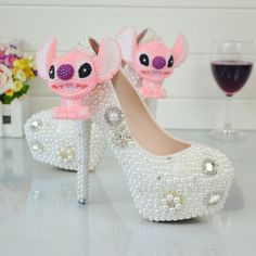 Wedding Shoes Multi Crystal Pearl Rhinestone Diamond Flower High Heels Women Pumps 5    https://www.lacekingdom.com/   Lace Kingdom: Everything You Need for #Weddings & Events