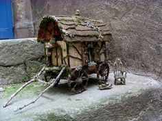 Diana Heyne: Fairy Caravans - Love this crafty wagon. It made me smile.  Always with Love Uniquely Robin Ann