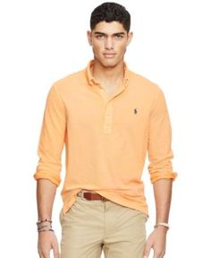 Polo Ralph Lauren Men's Featherweight Mesh Polo Shirt - Orange XS