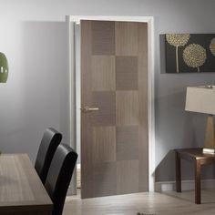 Apollo Chocolate Grey Flush Internal Door. #internaldoor #moderndoor #contemporarydoor