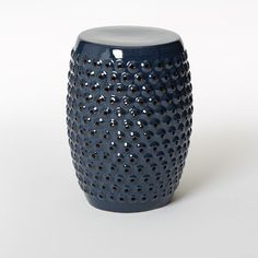 Bubble Ceramic Side Table - Indigo Glaze | west elm - $129