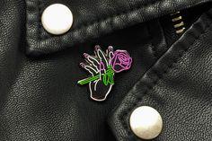Neon Nail Salon Sign Pin