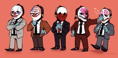 the absolute lads 🤡 It's Payday, All Hope Is Gone, Logo Tv, Skullgirls, Cs Go, Kids Gifts, Game Art, Comic Art, Character Art