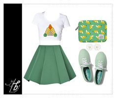 """Banana Love"" by bgmmstore ❤ liked on Polyvore featuring Structured Green, Keds, Woouf! and Cheap Monday"