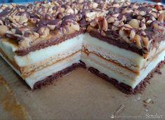 Ciasto snickers bez pieczenia Snickers Cake, Cake Recipes, Dessert Recipes, Yummy Food, Tasty, Food Cakes, Nutella, Tiramisu, Cheesecake