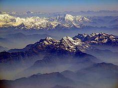 Nepal - The Annapurna range of the Himalayas.