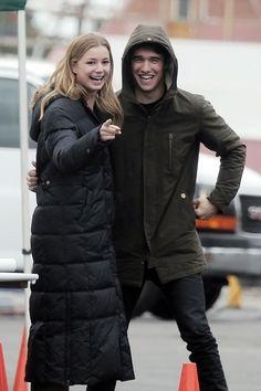 Emily VanCamp and Josh Bowman Goof Off on the Set of Revenge, Feb. 7, 2013
