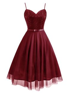 Spaghetti Lace Bow Swing Dress – Retro Stage - Chic Vintage Dresses and Accessories Lace Party Dresses, Grad Dresses, Homecoming Dresses, Formal Dresses, Prom Gowns, Short Black Prom Dresses, Party Dresses For Women, Traditional Mexican Dress, Traditional Dresses