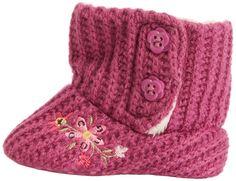 Padders Baby-Girl Knitted Boot BG Booties AMZ0066PK12 Purple 6-12 Months, 18 EU: Amazon.co.uk: Shoes & Bags