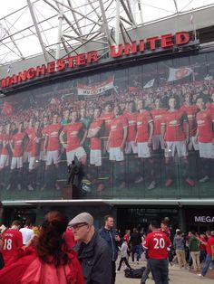 Front of Old Trafford #mufc