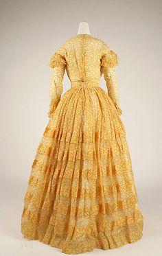 Dress (back view) Date: ca. 1844 Culture: American Medium: cotton Accession Number: 1982.56.3