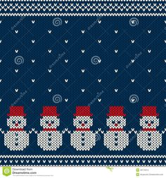 Illustration of Winter Holiday Seamless Pattern vector art, clipart and stock vectors. Christmas Knitting Patterns, Christmas Embroidery, Baby Knitting Patterns, Knitting Designs, Knitting Projects, Crochet Patterns, Cross Stitch Designs, Cross Stitch Patterns, Cross Stitch Borders