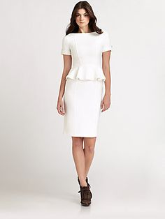 Burberry London Peplum Jersey Dress..This would be great to wear to my honeymoon...