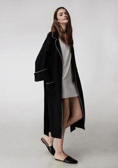Sleeper tuxedo robe