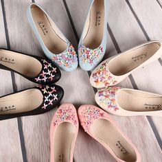 Hot-sale Colorful Bead Crescent Moon Slip On Flat Mary Jane Shoes - NewChic Mobile