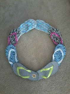 Flip Flop wreath completed