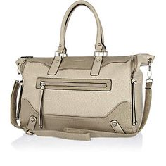 Grey washed zip detail holdall - bags / purses - sale - women
