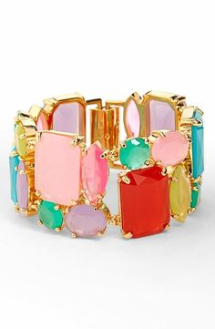 Bring life to your winter wardrobe with a colorful bracelet   Kate Spade 'gumdrop gems' stone bracelet