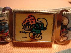 Vintage 1980s SMURF Belt by NopalitoVintageMore on Etsy, $10.00