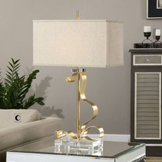 """Uttermost Camarena 31"""" H Table Lamp with Rectangular Shade"""