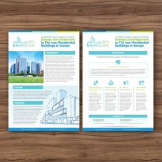 Design a 2-page flyer for a new leadership initiative - Buildings 2030 by evaneholics