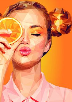 Low poly orange low poly orange Material Adobe Illustrator It can be selected -Portrait or landscape -Glossy or matte -What strength to have the paper You can choose -landscape-or uprightformat -glossy or matt -paper weight My portfolio my portfolio Pop Art Portraits, Portrait Art, Vector Portrait, Art And Illustration, Christmas Illustration, Vector Illustrations, Dibujos Pin Up, Polygon Art, Cubism Art