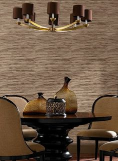 Grasscloth Wallpaper in Cream and Grey design by York Wallcoverings