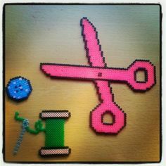 Sewing kit with hama beads