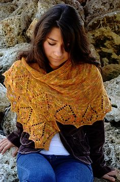 I love autumn -- the crisp mornings and cooler days with their promise of change feel invigorating after a long hot summer. I find endless inspiration in the season's incredible variety of colors and textures, so I wanted to design a shawl that would combine leaf shapes with interesting textures.