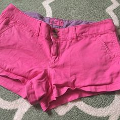 Pink American Eagle Shorts Size 4 American Eagle Shorts. They need a good iron and are a little worn but definitely still in good condition. They're very soft - just too small for me now American Eagle Outfitters Shorts