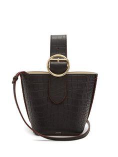 80a48bba5 Joseph Sevres crocodile-effect buckle-handle leather bag Crocodilo, Chloe,  Bolsas De