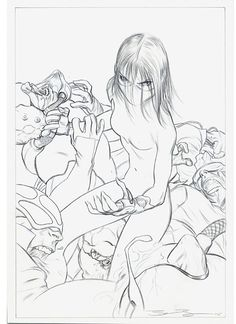James Jean - Artwork - Amazing Fantasy 11 Drawing - Nucleus | Art Gallery and Store