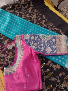 Kanchipuram Saree, Half Saree, Work Blouse, Saree Blouse Designs, Indian Outfits, Sarees, Embroidery Designs, Designers, Blouses