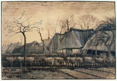 Vincent van Gogh, 'Thatched Roofs' 1884